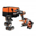 RIDGID 18 Volt 1/2 In. Drill/Driver and 6 1/2 In. Circular Saw 2 Tool Combo Kit