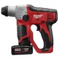 "Milwaukee 2412-22XC M12™ Cordless 1/2"" SDS Plus Rotary Hammer Kit"