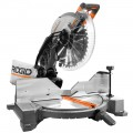 RIDGID 15 Amp Corded 12 In. Dual Bevel Miter Saw with Laser