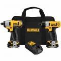 DeWalt DCK210S2 12V MAX Cordless Screwdriver / Impact Driver Combo Kit
